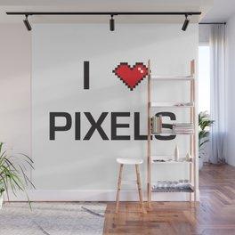 I heart Pixels Wall Mural