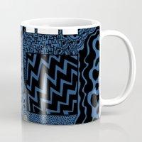 tardis Mugs featuring Tardis by Rebecca Bear