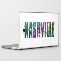 nashville Laptop & iPad Skins featuring Nashville by Tonya Doughty