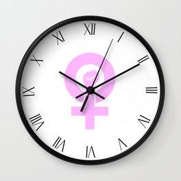Women's Symbol-Resist Wall Clock