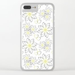 Cute floral pattern. Clear iPhone Case