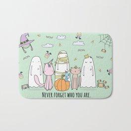 Happy Halloween Ghost Bath Mat