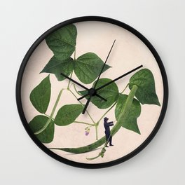 The green beans thread remover Wall Clock