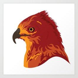 Face of Phoenix Art Print