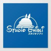 ghibli Canvas Prints featuring studio ghibli. by dann matthews