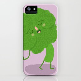 Singing Broccoli iPhone Case