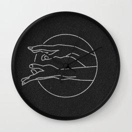 Beckoning Hands (black) Wall Clock