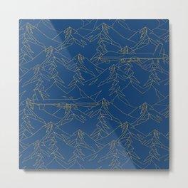 Blue Drones Metal Print