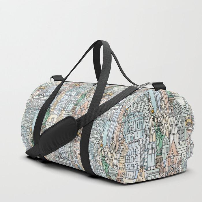 New York watercolor Duffle Bag