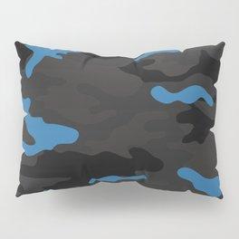 Blue camouflage Pillow Sham