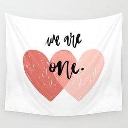 Soul mates hearts Wall Tapestry