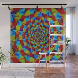 ZOOM #1 Vibrant Psychedelic Optical Illusion Wall Mural