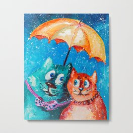 Two under umbrella Metal Print