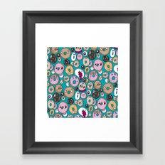 Donut Pattern Framed Art Print