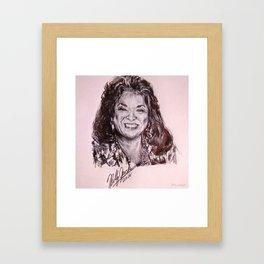 Della Reese Celebrity Portrait Framed Art Print