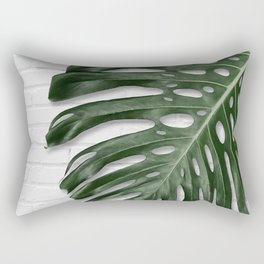 Monstera on brick Rectangular Pillow