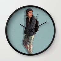 camouflage Wall Clocks featuring Camouflage by Laia™
