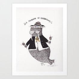 Walrus Mariachi Art Print