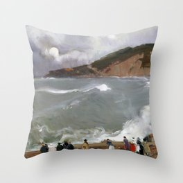 Joaquín Sorolla y Bastida Breakwater, San Sebastian Throw Pillow