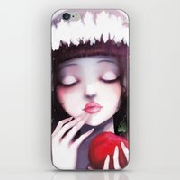 snow iPhone & iPod Skins featuring Snow white by Ludovic Jacqz