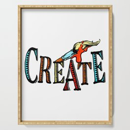 Create for Creative Craft and Art Lover Design Serving Tray