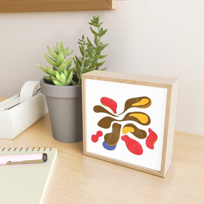 Flower paint minimal scandinavian Framed Mini Art Print