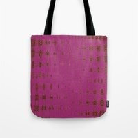 hot pink Tote Bags featuring Hot Pink by Dorothy Pinder