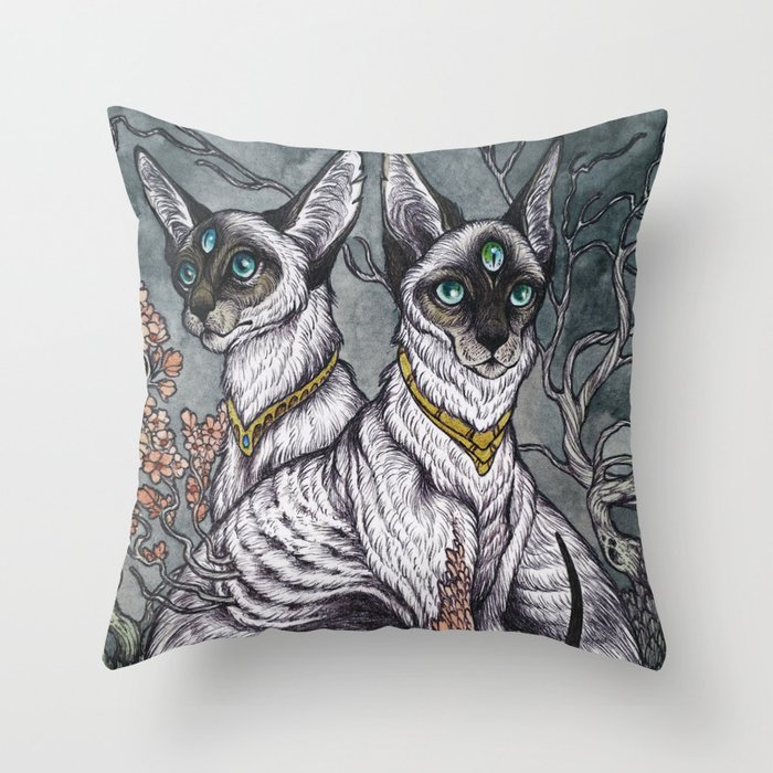 Gift of Sight art print Throw Pillow