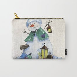 Christmas Snowman Carry-All Pouch