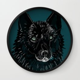 Totem Romeo the wolf Wall Clock