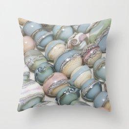 Organic Beads Throw Pillow
