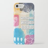 jewish iPhone & iPod Cases featuring Jewish Home Blessing by Linda Woods
