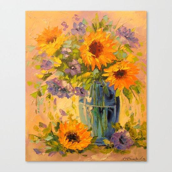 Bouquet of sunflowers Canvas Print