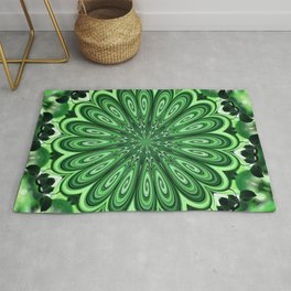 Mystery Green Puzzle Rug
