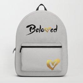 Beloved - Black & Gold Backpack
