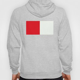 Two nearly perfect Squares - RED/White Hoody