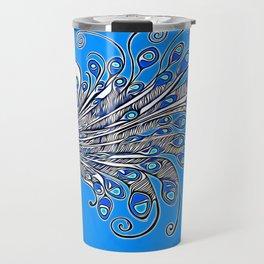 Peacock Art Travel Mug