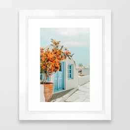 Greece Airbnb #photography #greece #travel Framed Art Print