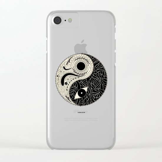 - yin & yang - [collaborative art with famenxt] Clear iPhone Case