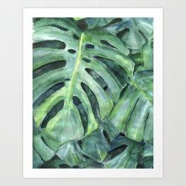 Palm leaves print Art Print