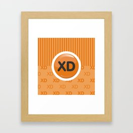 Orange Writer's Mood Framed Art Print
