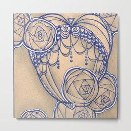 Fancy roses and perls Metal Print