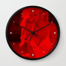 Pamela Anderson - Celebrity - Sexy Pose (Photographic Art) Wall Clock