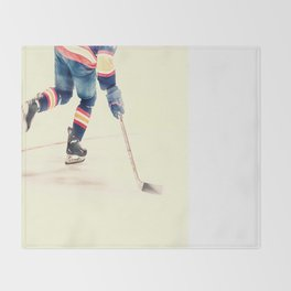 The Sport Of Hockey Throw Blanket