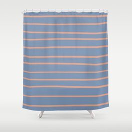 Earthen Trail 4-26 Hand Drawn Horizontal Lines on Dusky Sky 27-23 Shower Curtain