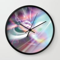 1984 Wall Clocks featuring Disco 1984 by Palm Street Gallery