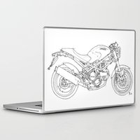 ducati Laptop & iPad Skins featuring Ducati Monster 695d 2007 by Larsson Stevensem