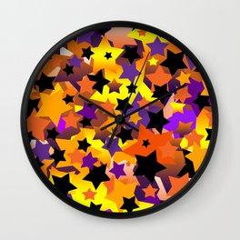 Halloween Star Crazy Wall Clock