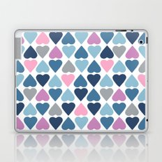 Diamond Hearts Pink Laptop & iPad Skin