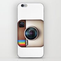 instagram iPhone & iPod Skins featuring Instagram by Max Jones